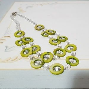 Jewelry - Gorgeous NEW green beaded necklace